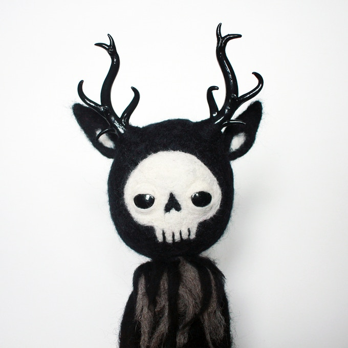 A creature from a gloomy wood... Felt monster (40cm/15.7in) by Anja Sturm
