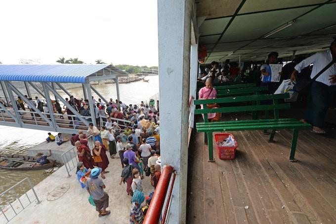 Yangon Ferry - Irrawaddy River