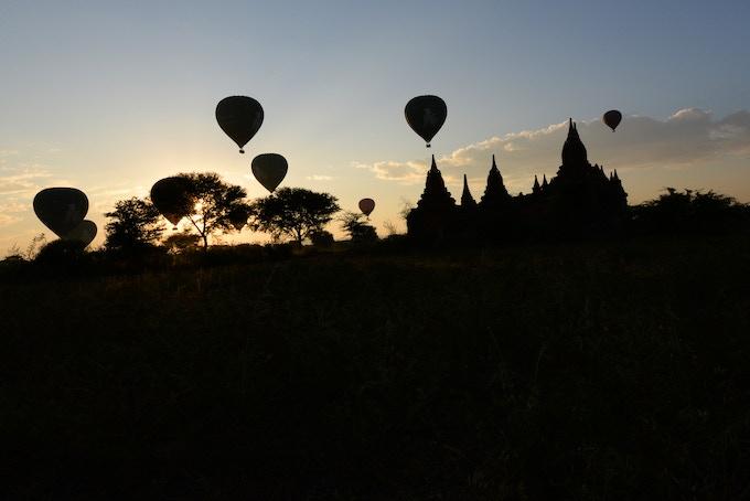 Bagan - Hot Air Balloons at Sunrise