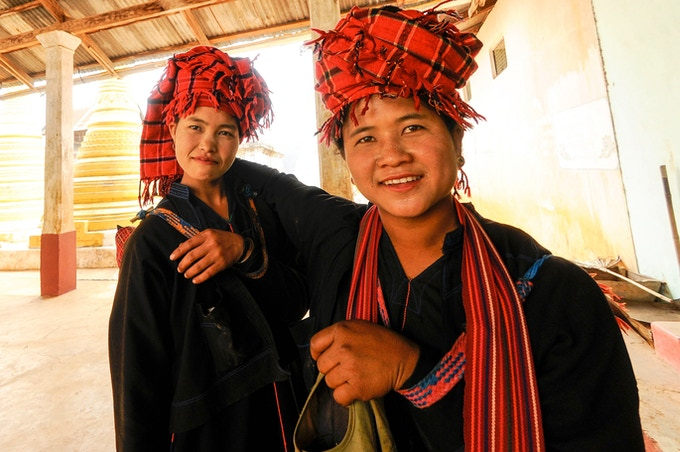 Inle Lake - Hill Tribe Women Returning After Market