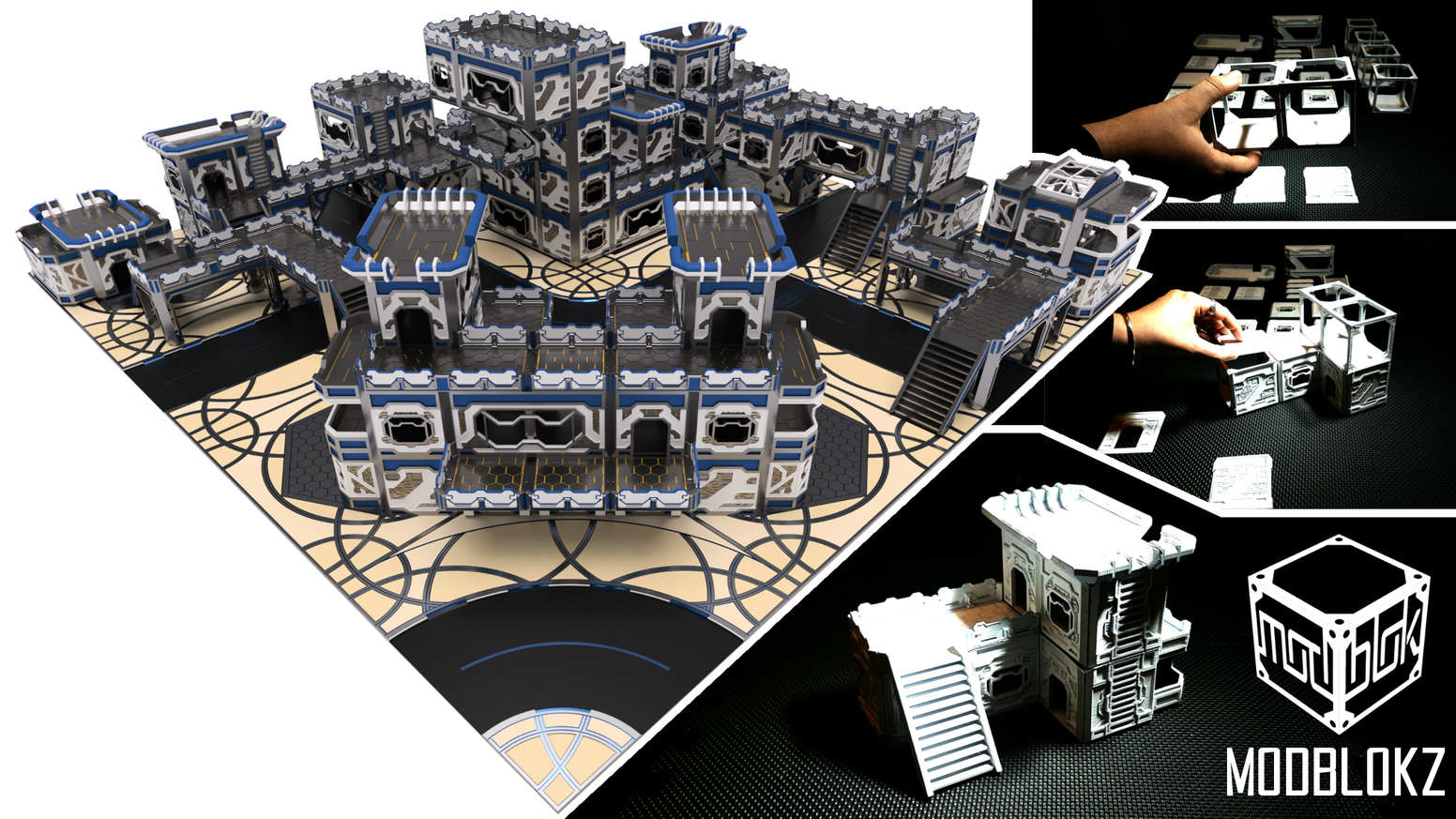 ModBlokz - Sci Fi Magnetic Modular Scenery Terrain System  by