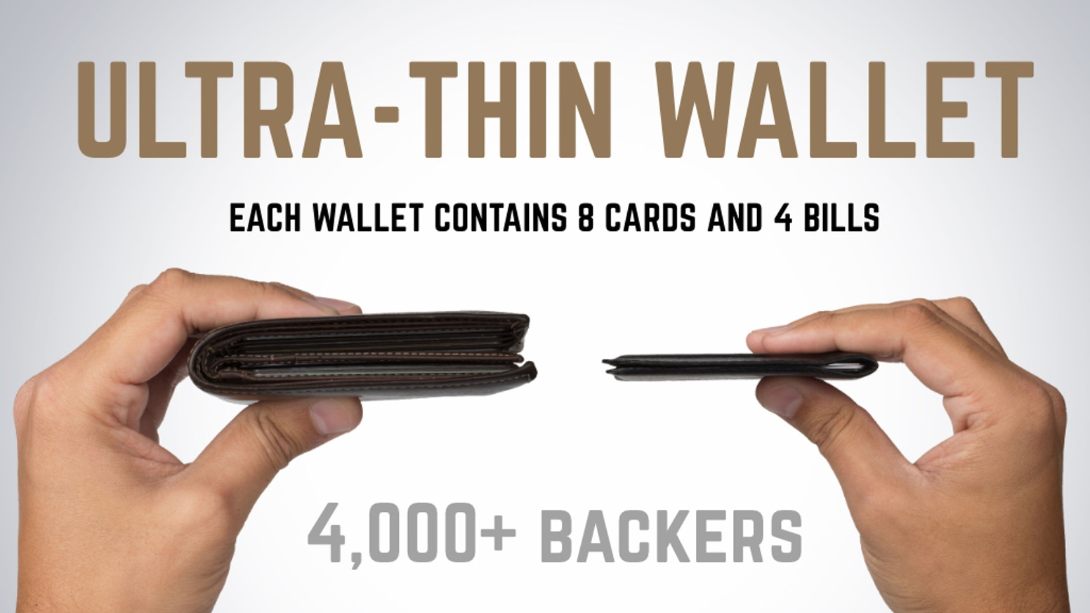 15x stronger than steel, as thin as a razor, holds 8 cards and cash, RFID protection - this is the ultimate wallet.