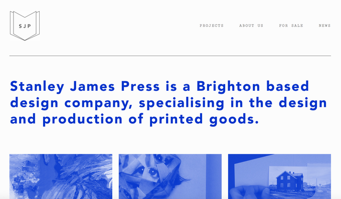 Link to the Stanley James Press website