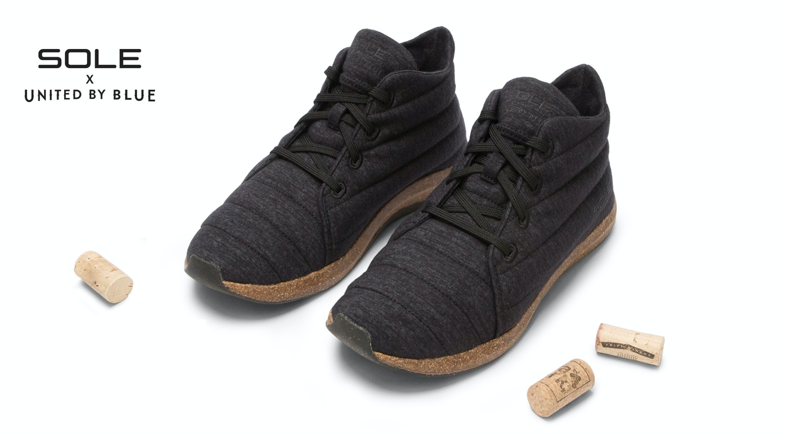 A comfortable, stylish, and durable shoe made from recycled cork, bison fiber, merino wool, rice rubber, algae foam, and bamboo.