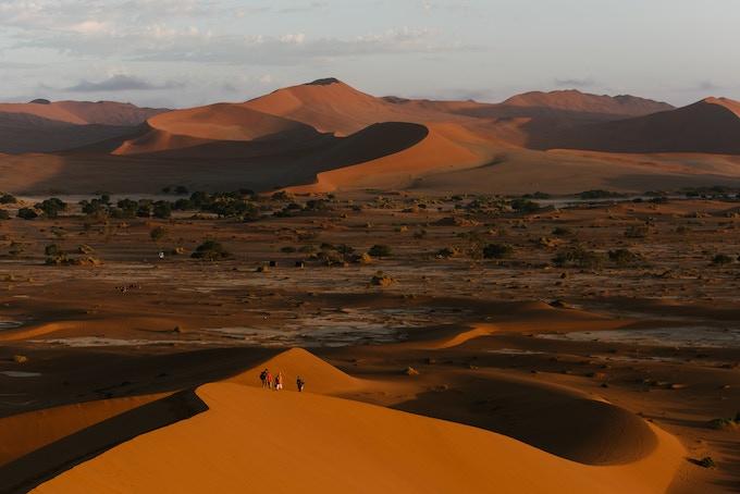 red dunes of Sossusvlei, Namibia