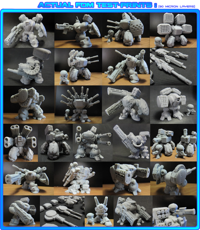 ALL MODELS FULLY TEST-PRINTED, SHOWN HERE @90mic LAYERING