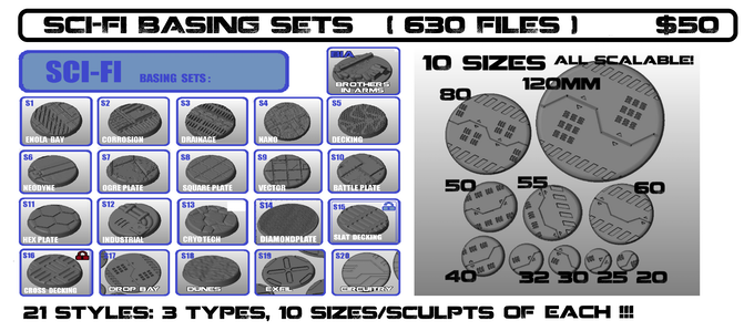 YES !!  630 SCI-FI BASING FILES! ALL RE-SCALABLE TO ANY SIZE DESIRED