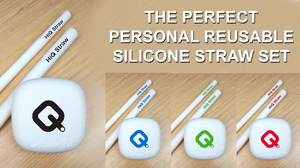 HiQ Straw: Zero Plastic 100% Eco-Friendly Silicone Straw Set project video thumbnail