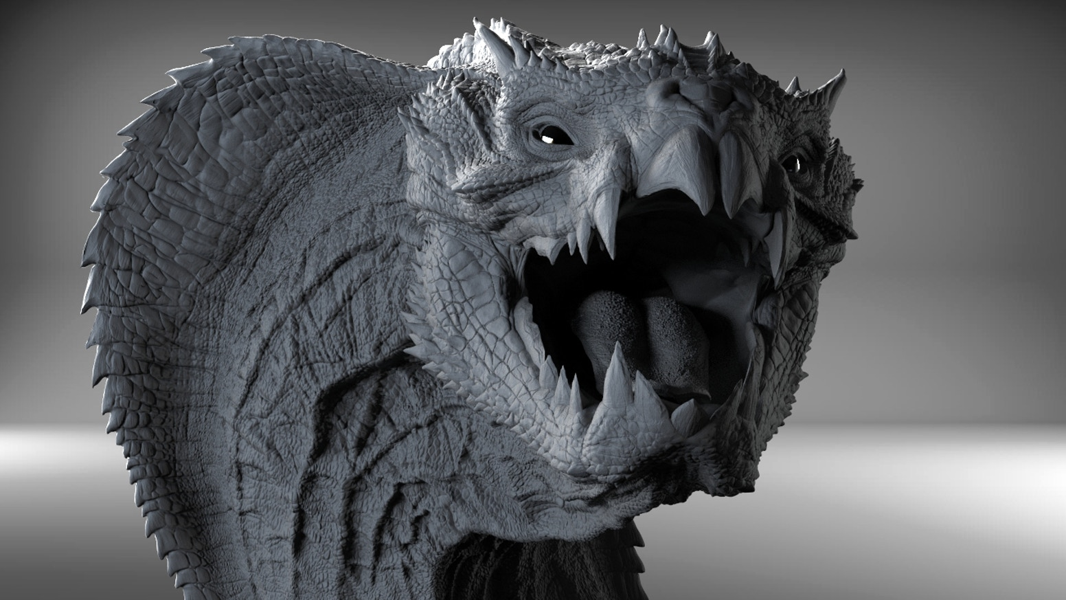 Viper Dragon 3D Printed Sculpture By Kurtis Dawe