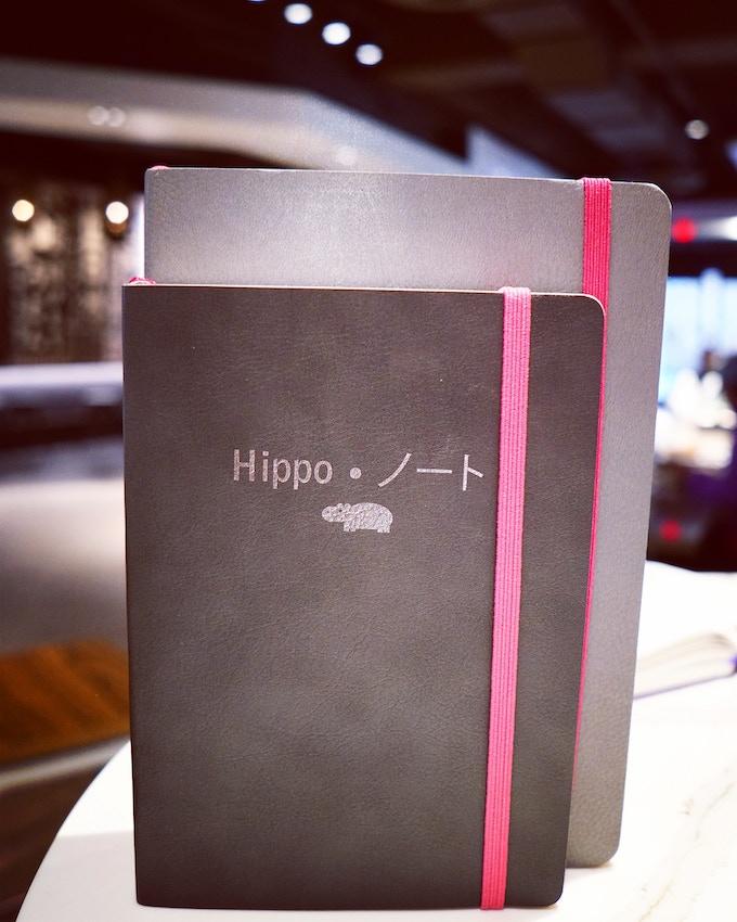 Front:  B6 Pygmy Hippo Noto, Back:  A5 Standard Hippo Noto