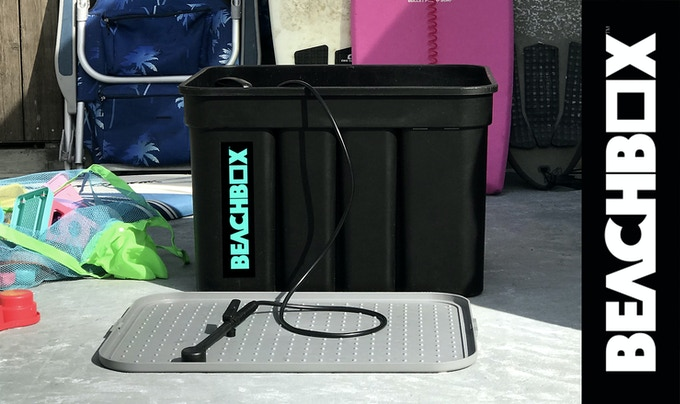 BeachBox: The World's First Surf Shower & Storage Box In One