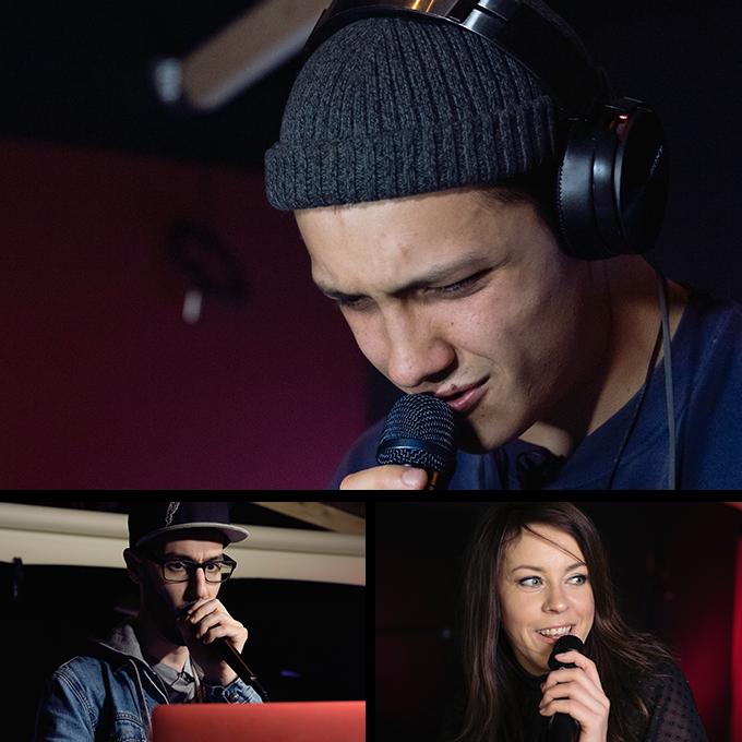 Pre-launch Dubler Studio Kit testers Magnus Chapple, SK Shlomo and Luna Neptune.