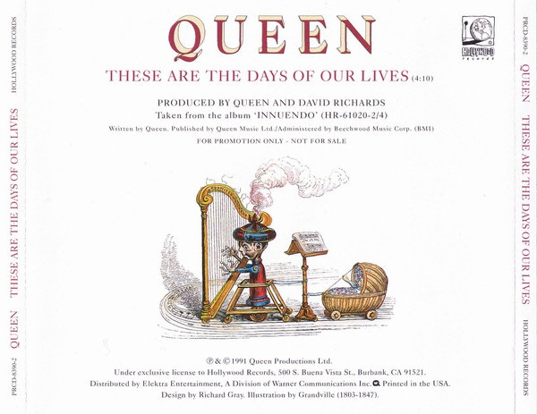 One of the Queen CD Covers with a Grandville illustration // credits: Queen productions Ltd 1991