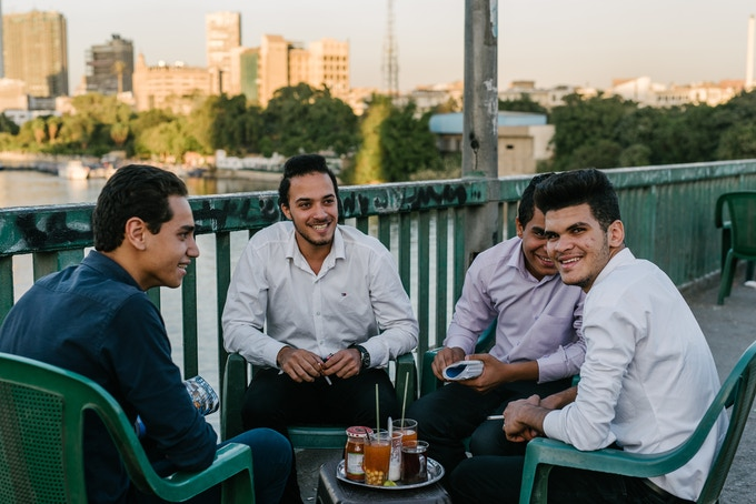roadside cafe in Cairo, Egypt