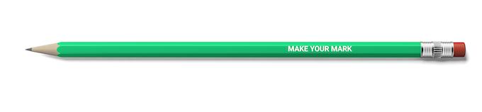 2B pencil reward, so you can make your own mark!