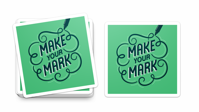 """""""Make Your Mark"""" Logo Stickers"""