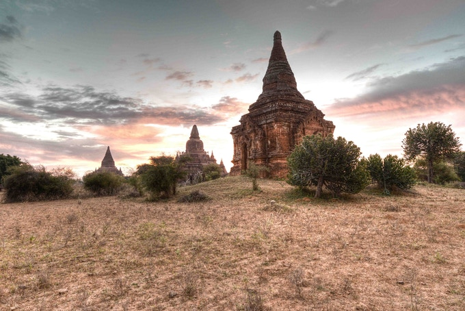 Bagan - Sunset over Temples