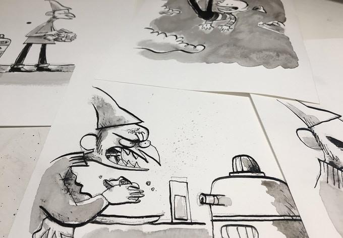 Inked originals for you art afficionados.