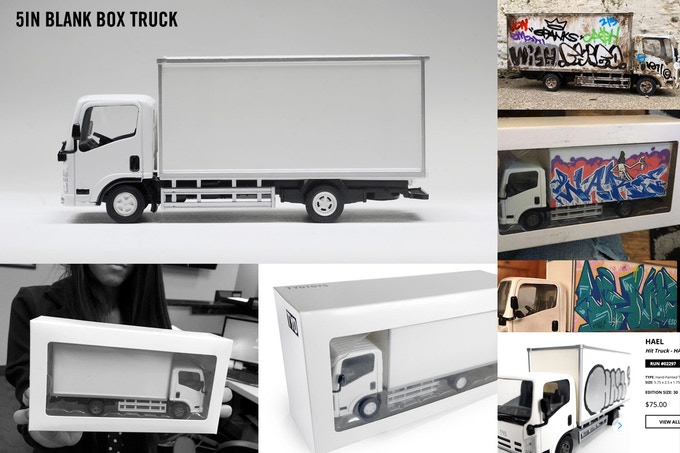 TYOTOYS 5in blank box truck