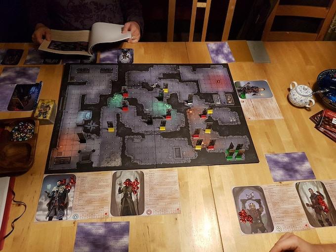 Spielaufbau des Prototypen (Foto: Die Heimspieler)