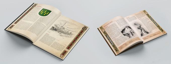 Exempel på uppslag ur Magiboken och den pyrotropiska aspektboken