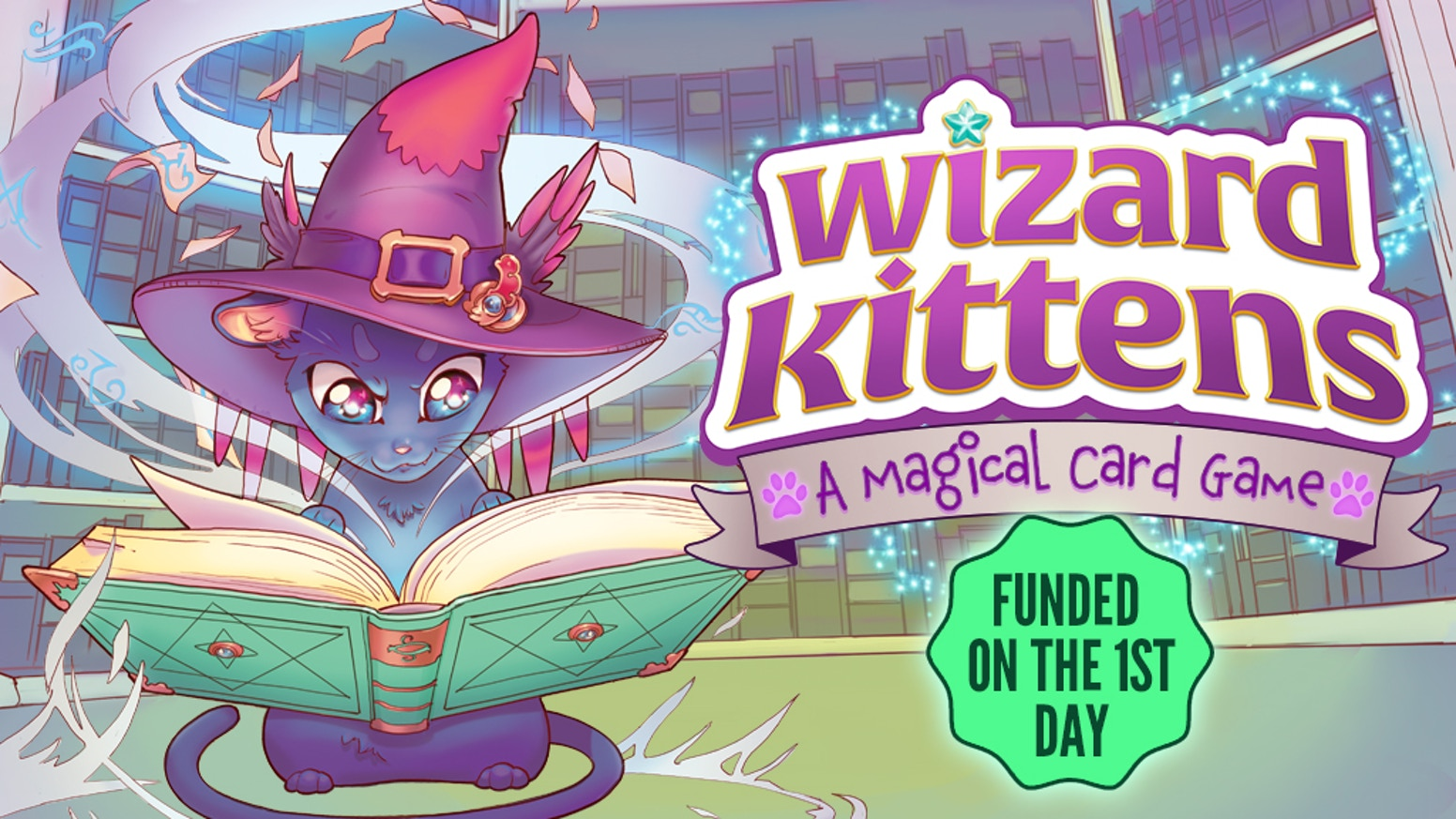 An adorably magical semi-cooperative set collecting card game for 2-4 players