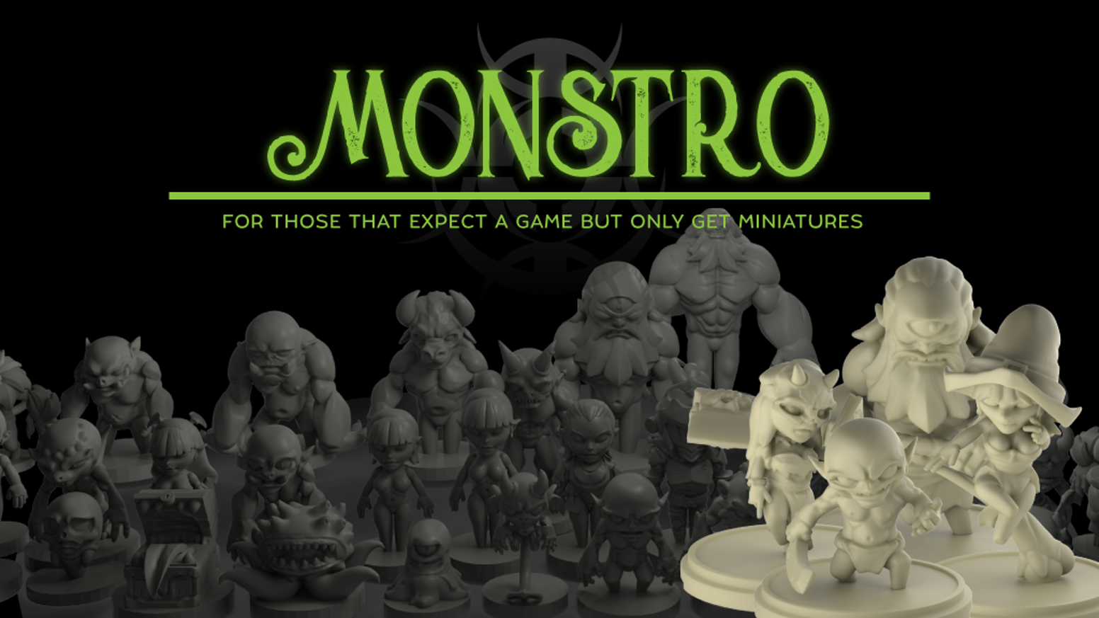 32mm chibi miniatures cast in high quality resin, made in-house and inspired by rpg games, DnD, and general tabletop gaming.