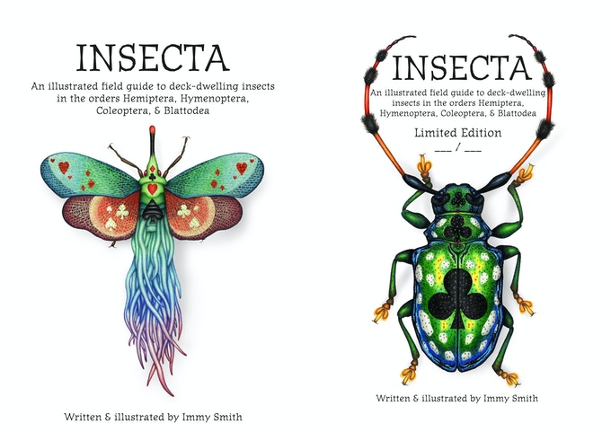 The Insecta artbook cover, and limited edition numbered inside page