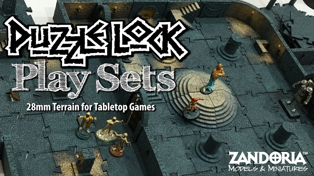 PuzzleLock Playsets--Immersive 3-Dimensional Dungeon Tiles project video thumbnail
