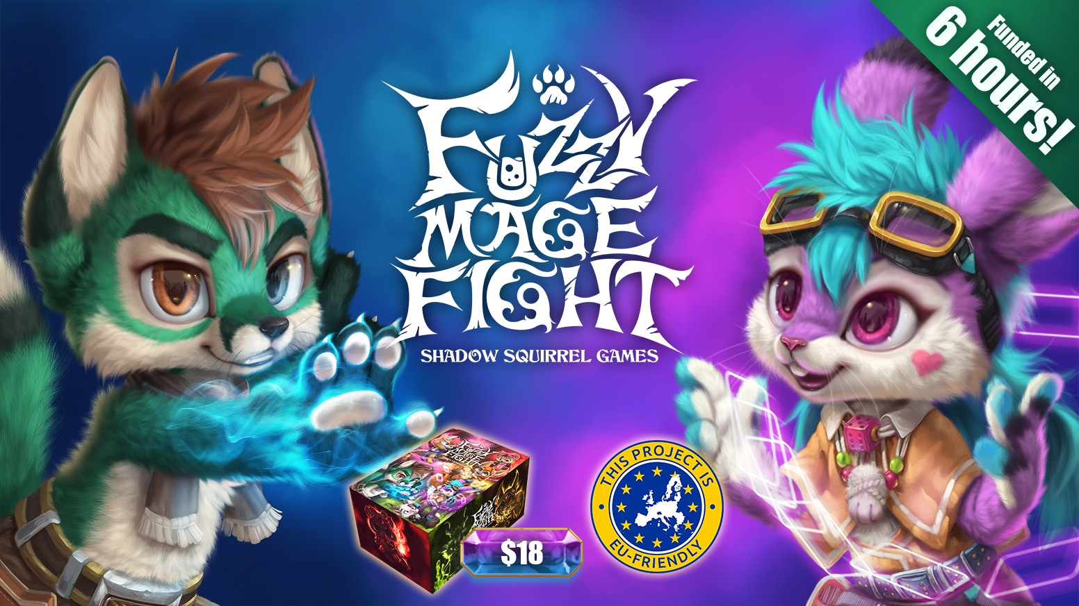 A card game for 2-6 players. Play as fuzzy mages with unique abilities fighting to become the most magical fuzzy mage ever!