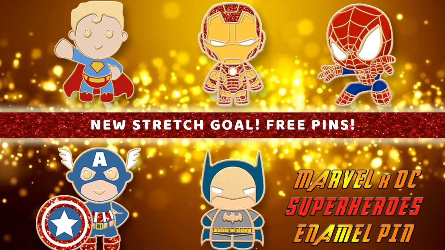 Marvel x Dc Avengers Enamel Pins (Spiderman, Captain America, Ironman, Superman, Batman)