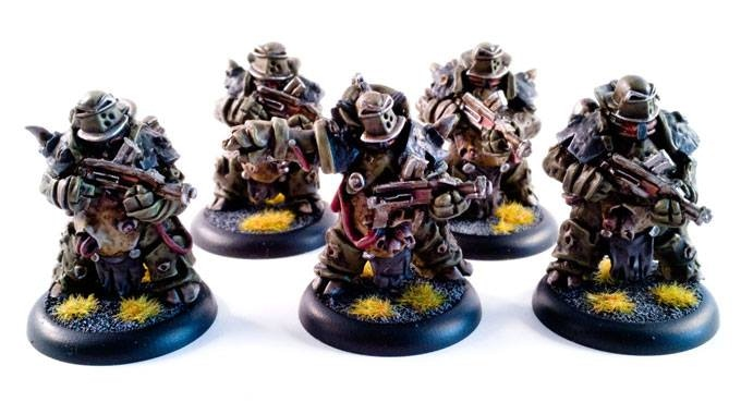 Helmeted troopers with officer-25$