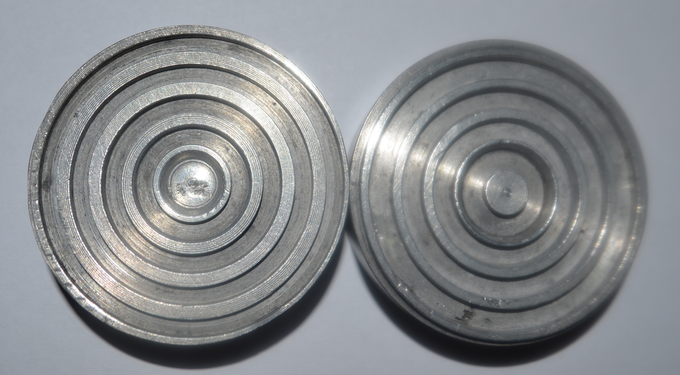 Figure 2: a couple of ring carrying discs made for the test of the forces