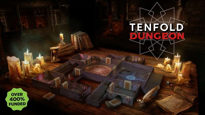 Compact and affordable tabletop terrain for Dungeon Crawling RPGs, all made from the box it comes in.