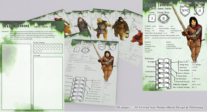 Pregenerated Character Cards