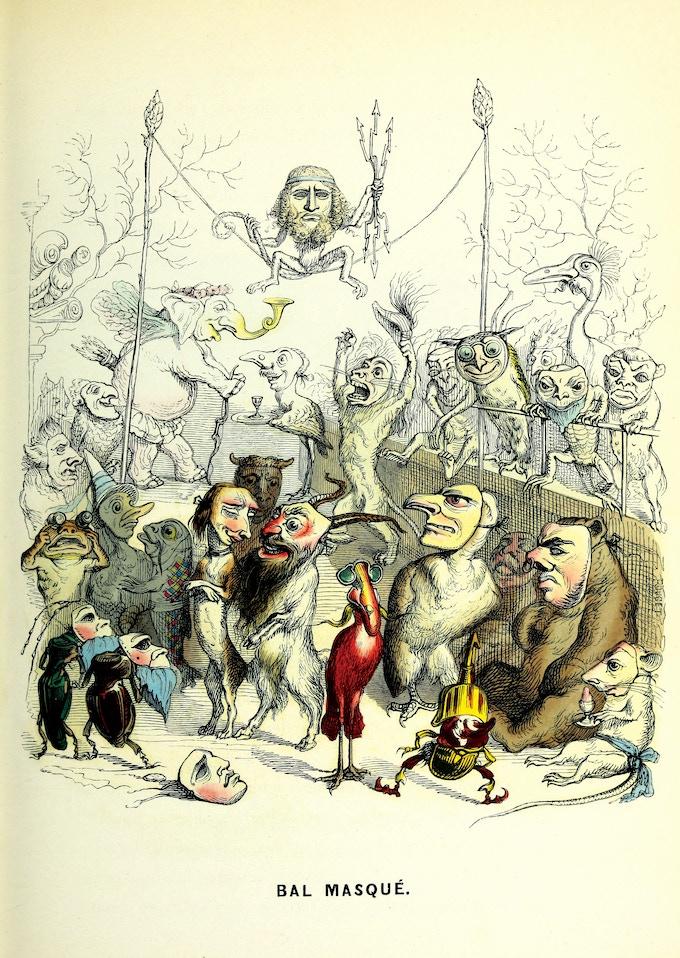 Original colored Illustration. Book and / or Cardboard Print.