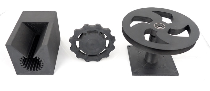 Technical objects printed with Nefila HIPS