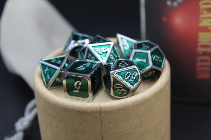 Metal and other upgraded dice.