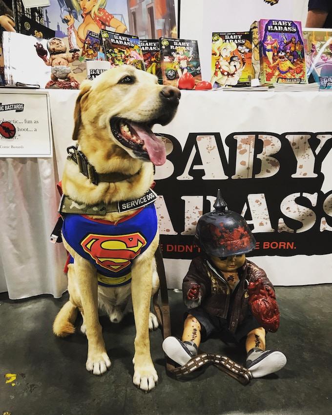 Even dogs love Baby Badass.