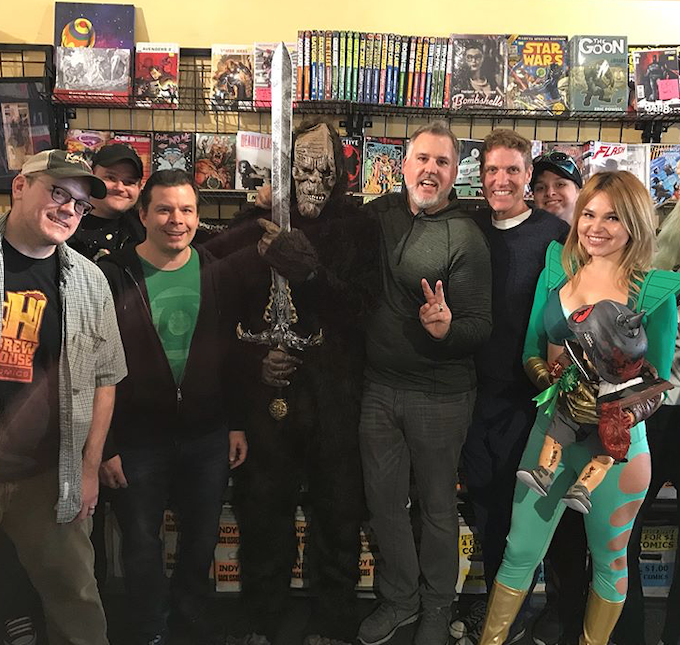 BABY BADASS signing at Golden Apple Comics in Los Angeles.
