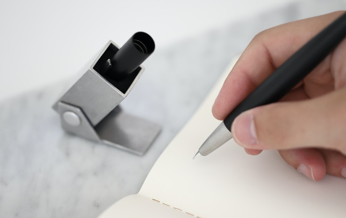 Use your pen more by bringing click pen convenience to the capped pen you love.