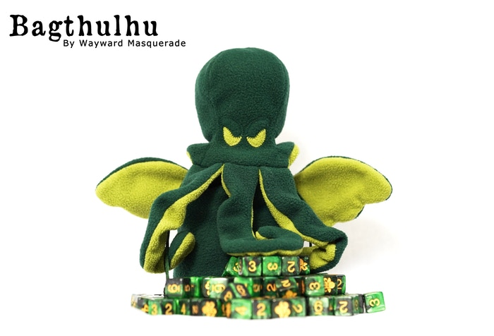 Bagthulhu is an adorably cuddly lovecraftian abomination, who dreams of dice and world domination. Now shipping.