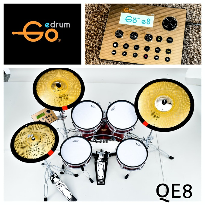 QE8 Series- With the whole new e360 metal e-cymbal - to offer a fantastic sound and physical experiment ever.