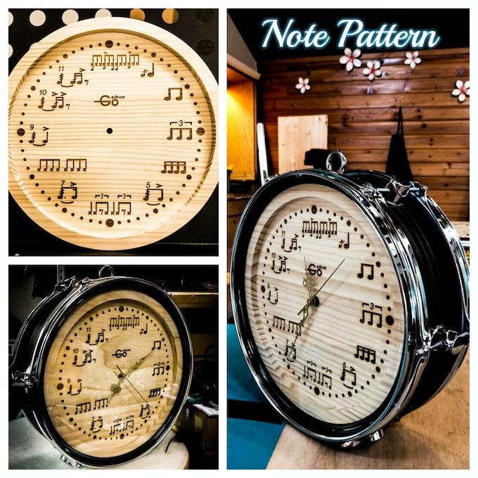Our hand craft drum shape clock - Drum Beat Note Pattern
