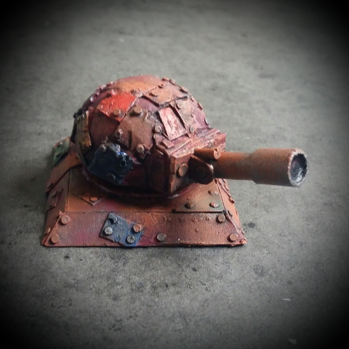 Small turret with large barrel