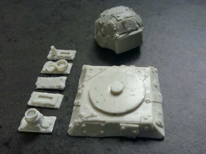 Small turret with light weapons set.