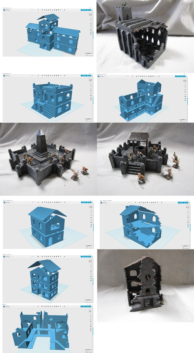 Additional pieces in the Whole and Broken Buildings Bundle