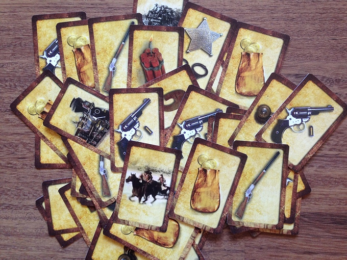 Collage of playing cards for Get Billy the Kid!