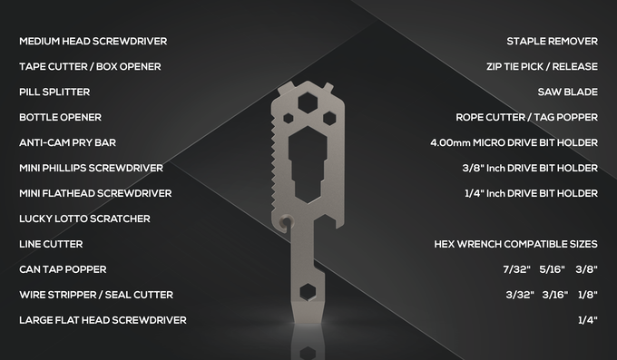 U-Key : Aerospace Titanium Multi-Tool Key! $20