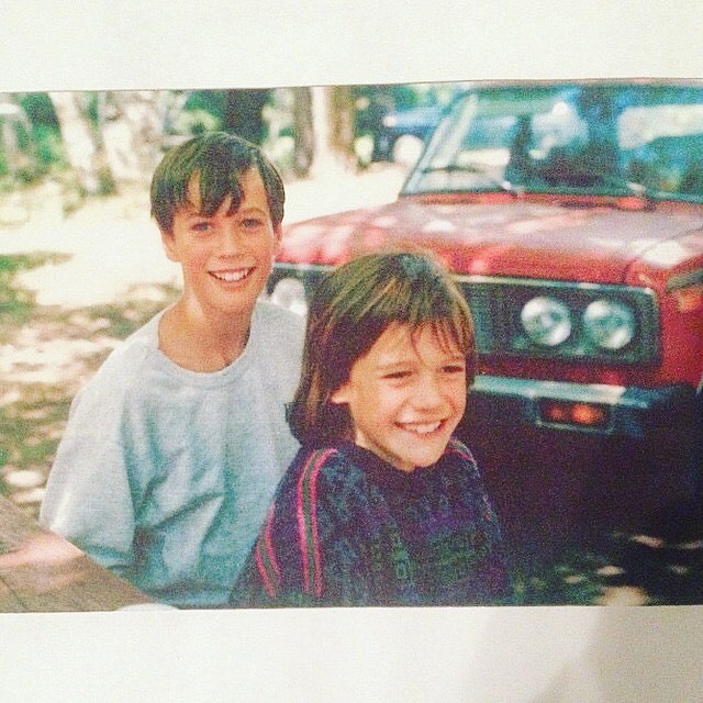 Me, my bro, and one of our two Ladas (circa 1986)